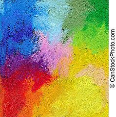 Extracto, Textured, acrílico, aceite, pastel, mano,...
