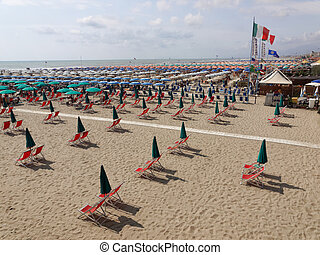 beach at Viareggio Versilia Italy - landscape of the beaches...