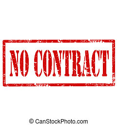 No Contract-stamp - Grunge rubber stamp with text No...