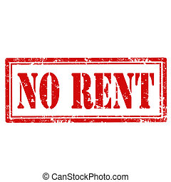 No Rent-stamp - Grunge rubber stamp with text No Rent,vector...