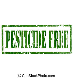 Pesticide Free-stamp - Grunge rubber stamp with text...