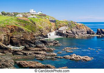 Lizard Point Cornwall England UK - View towards Lizard Point...