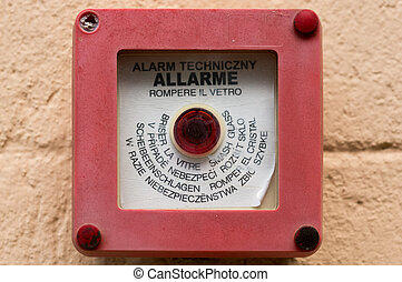 alarm button - Alarm button to operate in case of fire
