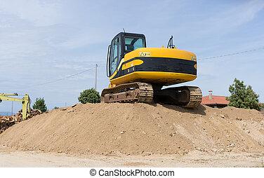 Crawler Excavator - Crawler excavator. Construction machine...