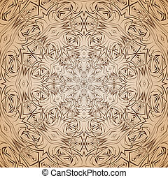 Abstract pattern in beige and brown
