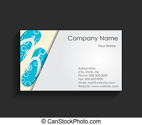 Company Business Card Vector Illustration