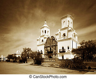 Mission San Xavier in Tucson, Arizona