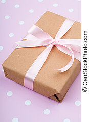 gift tied with a ribbon