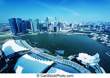 Singapore skyline - Central business district in Singapore