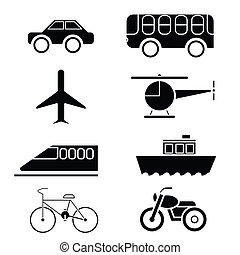 silhouette of Transportation icon s - image of...