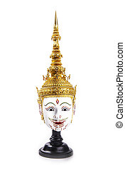 Asia Mask Tao Totsarot, Khon Mask of Thailand - Khon is a...