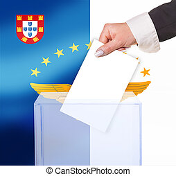 electoral vote by ballot, under the Azores flag