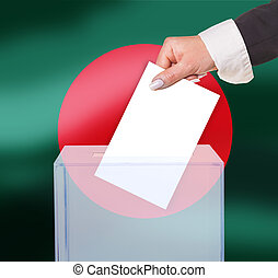 electoral vote by ballot, under the Bangladesh flag