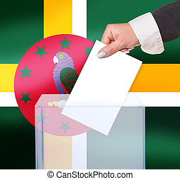 electoral vote by ballot, under the Dominica flag
