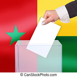 electoral vote by ballot, under the Guinea-Bissau flag