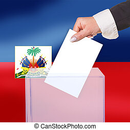 electoral vote by ballot, under the Haiti flag