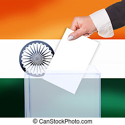 electoral vote by ballot, under the India flag