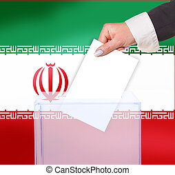 electoral vote by ballot, under the Iran flag