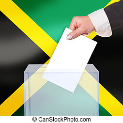 electoral vote by ballot, under the Jamaica flag