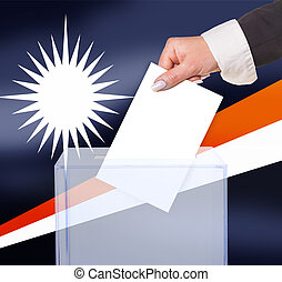 electoral vote by ballot, under the Marshall Islands flag