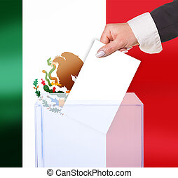 electoral vote by ballot, under the Mexico flag