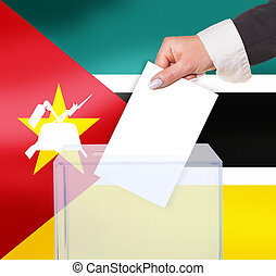 electoral vote by ballot, under the Mozambique flag