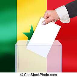 electoral vote by ballot, under the Senegal flag