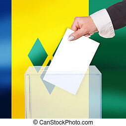 electoral vote by ballot, under the St. Vincent flag