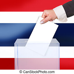 electoral vote by ballot, under the Thailand flag