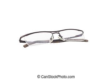 médico, óculos, modernos