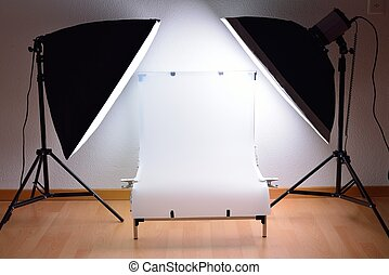 Shooting Table and studio lighting - ShootingTable and...