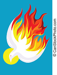 Holy spirit - Dove Holy spirit art vector illustration