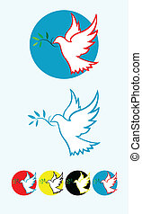 Dove peace art vector design