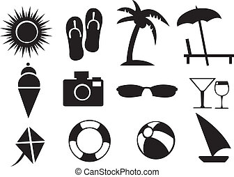 Vector illustration of Summer Related Isolated Objects -...