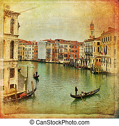 Venice, Italy, Grand Canal - The beautiful view of a Canal...