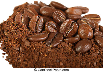 background from the fried coffee grains