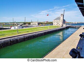 Soo Locks - The American Soo Locks located in Sault Ste...