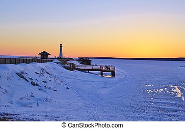 North Country Winter - Winter walk along the St Ignace...