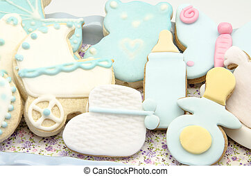 Cookies - Several cookies baked and decorated with fondant