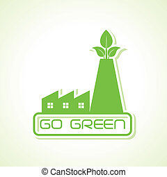 green industry design icon design