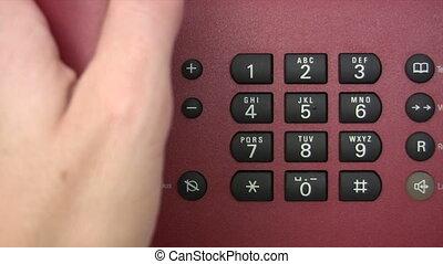 Phone Call - Close-up - Canon HV30. HD 16:9 1920 x 1080 @...