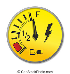 fuel gauge - abstract fuel gauge for a electric vehicle