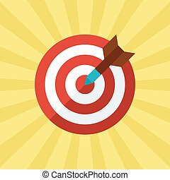 Darts target concept illustration in flat style