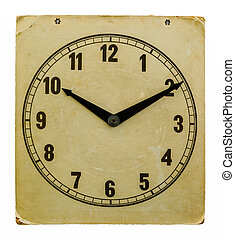Time on old wall clock 10:10