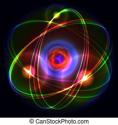 Atom. Vector Illustration
