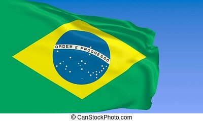 Brazil flag with soccer ball - Brazil flag with shining...