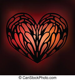 Ornamental Heart. Love.