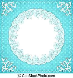 Elegand turquoise vintafe floral frame