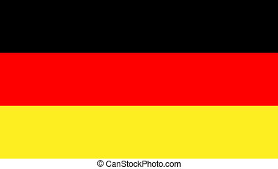 flag of germany - Vector illustration of the flag of the...
