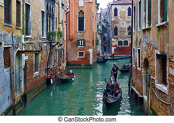 Venice, Italy - Beautiful view of a canal in Venice, Italy